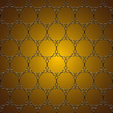 Elegant gouden patroon Royalty-vrije Stock Fotografie