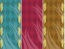 Elegant gouden traditioneel ottoman Turks ontwerp stock illustratie