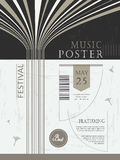 Elegant and graceful music festival poster Stock Photos