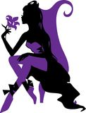 Elegant graphic silhouette of a woman Royalty Free Stock Image
