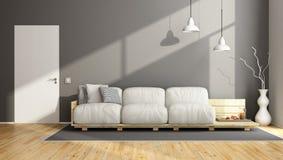 Elegant gray living room Royalty Free Stock Photography