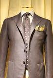 Elegant gray suit stock image
