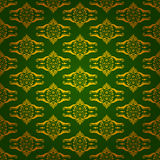 Elegant background made of golden pattern. Elegant green background made of golden decorative pattern Royalty Free Stock Photography