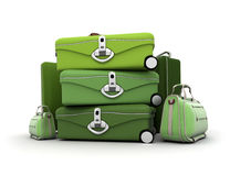Elegant green baggage Stock Photo