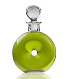 Elegant green bottle with reflection Stock Image