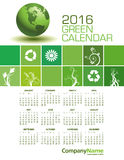 An Elegant 2016 Green Calendar Stock Photo