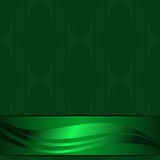 Elegant green ornamental Background decorated the beautiful Ribbon Stock Photo