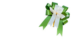 Elegant green ribbon Stock Photo