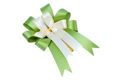 Elegant green ribbon Royalty Free Stock Photography