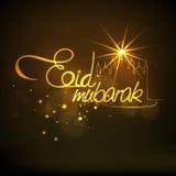 Elegant greeting card for Eid Mubarak celebration. Stock Image