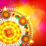 Elegant greeting card for Happy Diwali celebration. Royalty Free Stock Image