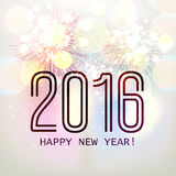 Elegant greeting card for Happy New Year 2016. Royalty Free Stock Image