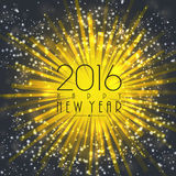 Elegant greeting card for Happy New Year. Royalty Free Stock Images