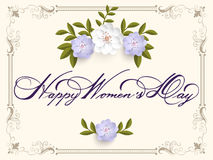 Elegant greeting card. 8 March International Women`s Day. Stock Photos