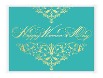 Elegant greeting card. 8 March International Women`s Day. Royalty Free Stock Images