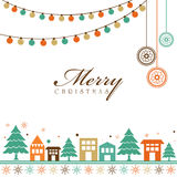 Elegant greeting card for Merry Christmas. Royalty Free Stock Image