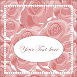 Elegant greeting card with roses. Vector illustration Royalty Free Stock Photo