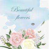 Elegant greeting card template Stock Photos