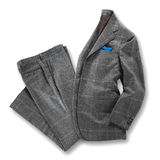 Elegant grey worsted suit Stock Images