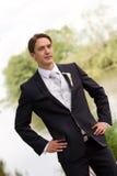 Elegant groom Stock Images