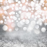 Elegant Grunge Silver, Gold, Pink Christmas Lights Vintage Stock Photos