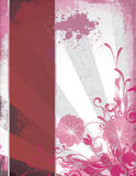 Elegant Grunge Template with Floral Corner Stock Photo