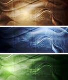 Elegant grunge waves banners Royalty Free Stock Photo