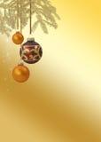 Elegant guld- jul Royaltyfria Bilder