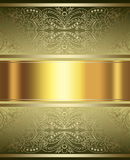 Elegant guld- och bruntbakgrund Royaltyfri Bild