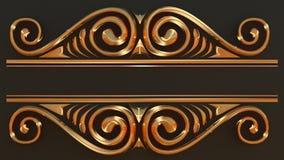 Elegant guld- ram för din text Fotografering för Bildbyråer