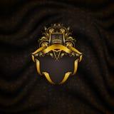 Elegant guld- rambaner Arkivfoto