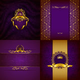 Elegant guld- rambaner Arkivbild
