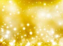 Elegant guld- stjärnklar bakgrund Royaltyfria Bilder