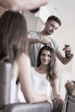 Elegant hair salon Royalty Free Stock Image