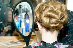Elegant Hairstyle Royalty Free Stock Photos