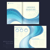 Elegant half-fold brochure template design Stock Photography