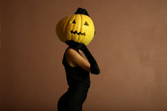 Elegant halloween phantom. Stock Photo