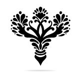 Elegant hand drawn fleur de lis symbols in ornate stylized design element Stock Photos