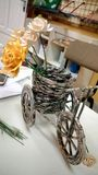 Elegant Hand-Made Bike With Recycled Newspaper stock photos