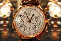 Elegant hand watch - men Stock Photos