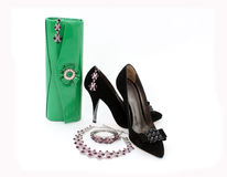 Elegant Handbag , Shoes And Jewelry For Women Stock Photos