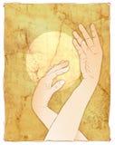 elegant handillustrationkvinna Royaltyfri Bild
