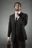 Elegant and handsome businessman stock photos