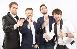 Elegant and handsome guys together Royalty Free Stock Photos