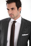 Elegant handsome man in suit. Portrait of handsome man in suit Stock Photography