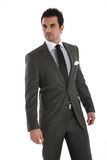 Elegant handsome man in suit royalty free stock image