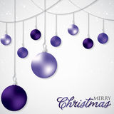 Elegant hanging Christmas baubles. In vector format royalty free illustration