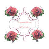 Elegant Happy Birthday card, for banner, flyer, brochure, gift certificate, party invitation. Stock Images