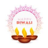 Elegant happy diwali festival background with mandala decoration. Vector Stock Photo