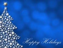 Elegant Happy Holidays Background. Happy Holidays winter blue background Royalty Free Stock Image